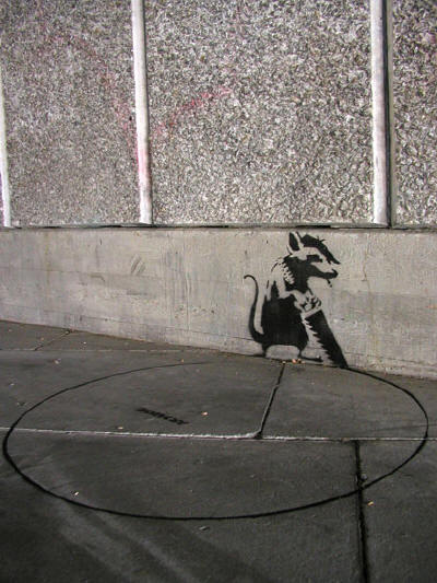 banksy graffiti art. Banksy Graffiti Art : Caught