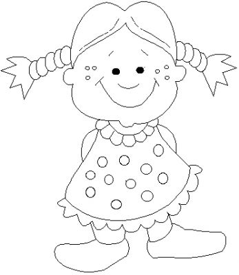 Little Girl Pigtails Kids Coloring Pages Disney Coloring Pages