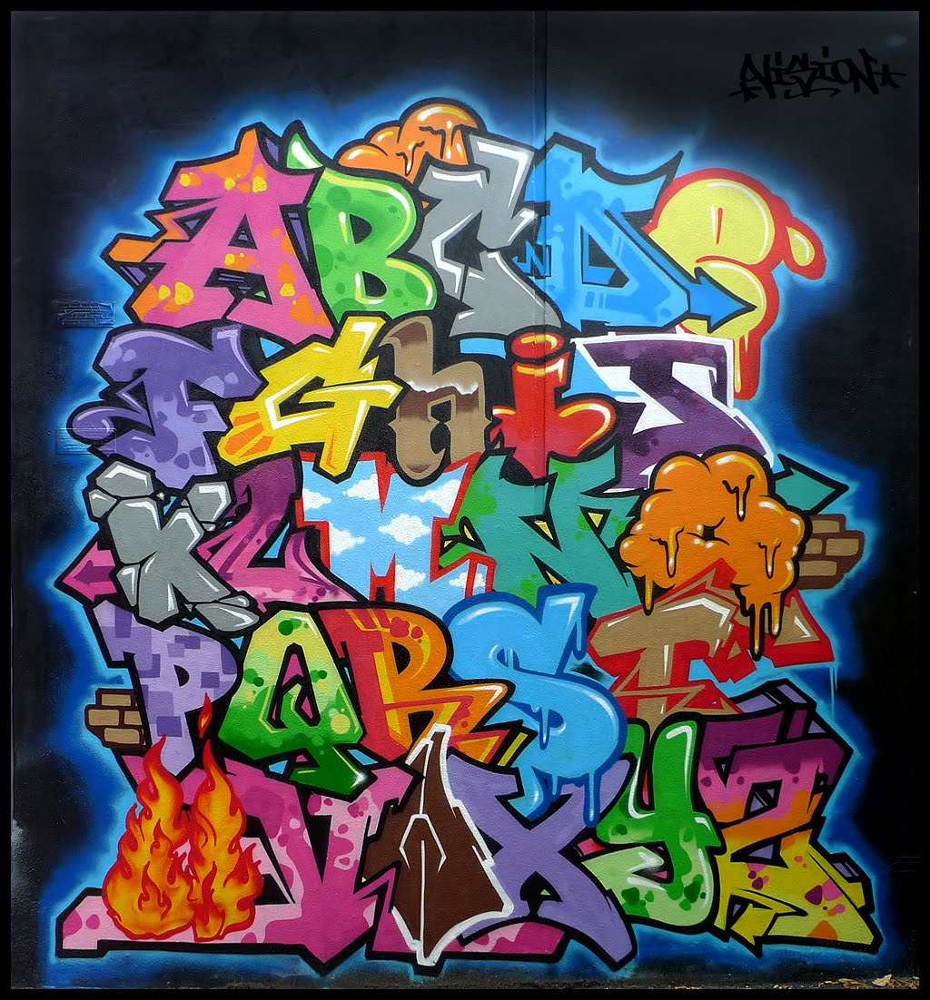 Graffiti walls colorfull vizion graffiti alphabet - Graffiti alfabet ...