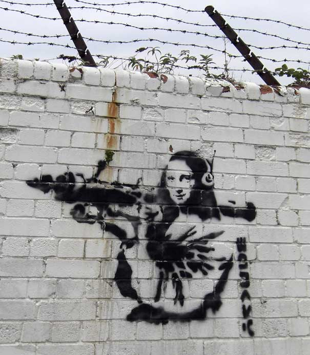 banksy graffiti wallpaper. Banksy Graffiti quot;Mona Lisa