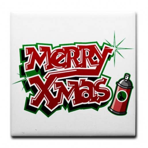 Graffiti Walls Christmas Greeting Letter In Graffiti