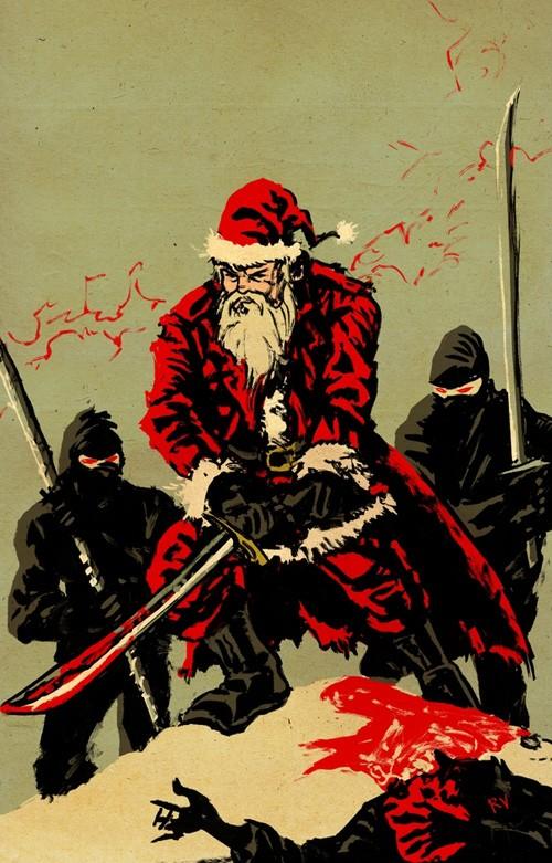 Graffiti Walls Christmas Graffiti Santa Claus Ninja