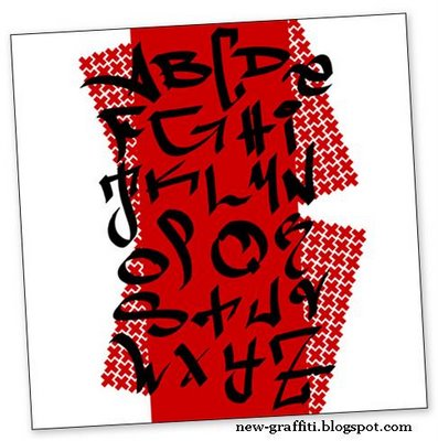 2011 3d graffiti alphabet