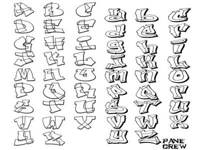Graffiti Alphabet A-Z by