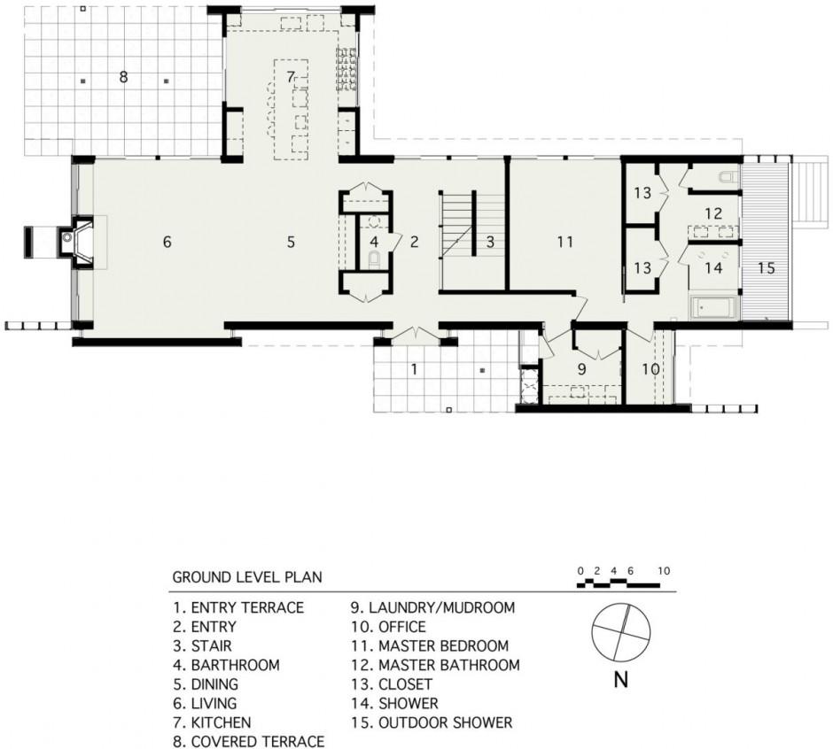 Ground Floor Plan Drawing Courtesy Of Bates Masi Architects