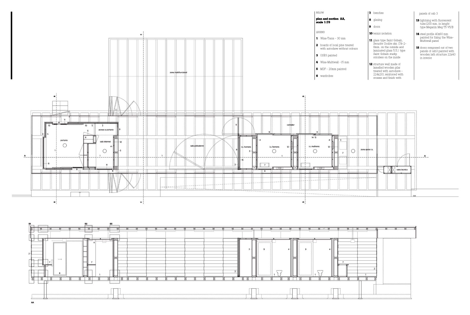 Plan+section  Drawing Courtesy Of Paratelier
