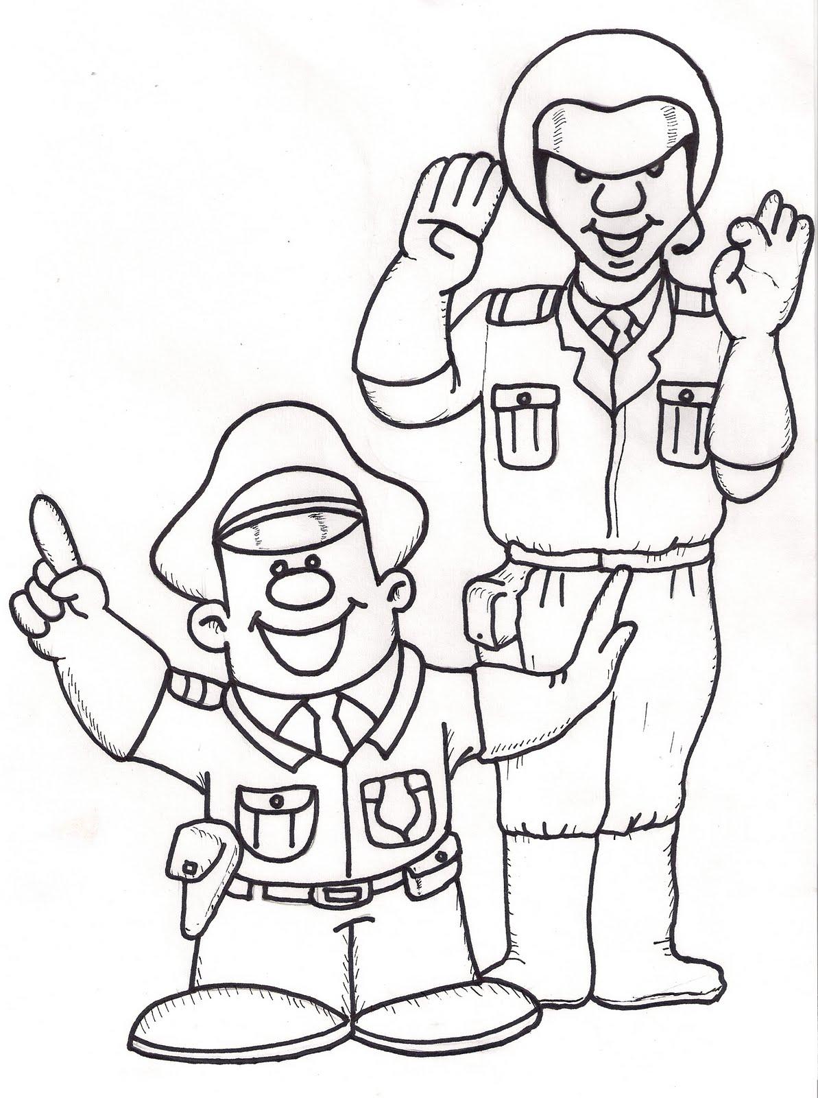 Contemporáneo Policía Colorear Páginas Para Imprimir Viñeta ...