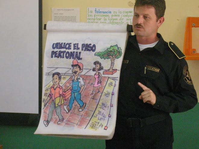 EDUCACIÓN VIAL POR PERSONAL DE  LA  S.S.P.