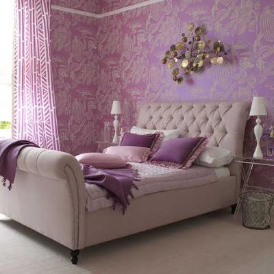 رونق البنفسجي في أرجاء المنزل وديكور بنفسجي Purple-bedroom2