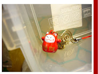maneki neko ninja cellphone charm