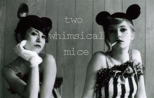Two Whimsical Mice