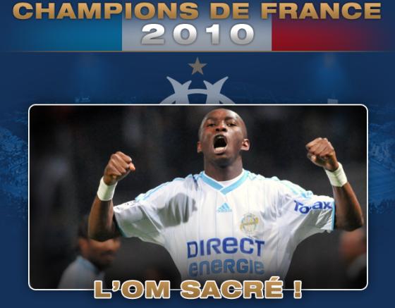 Marseille, champion de France 2010