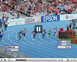 Christophe Lemaître champion d'Europe du 200m
