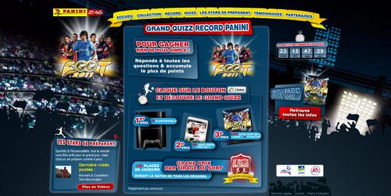 Panini Foot 2011 : le match de tous les records