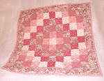 Miniature Doll Quilt plus 2 Heart Pillows