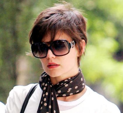 Cute short hairstyle for girls 2009. Funky