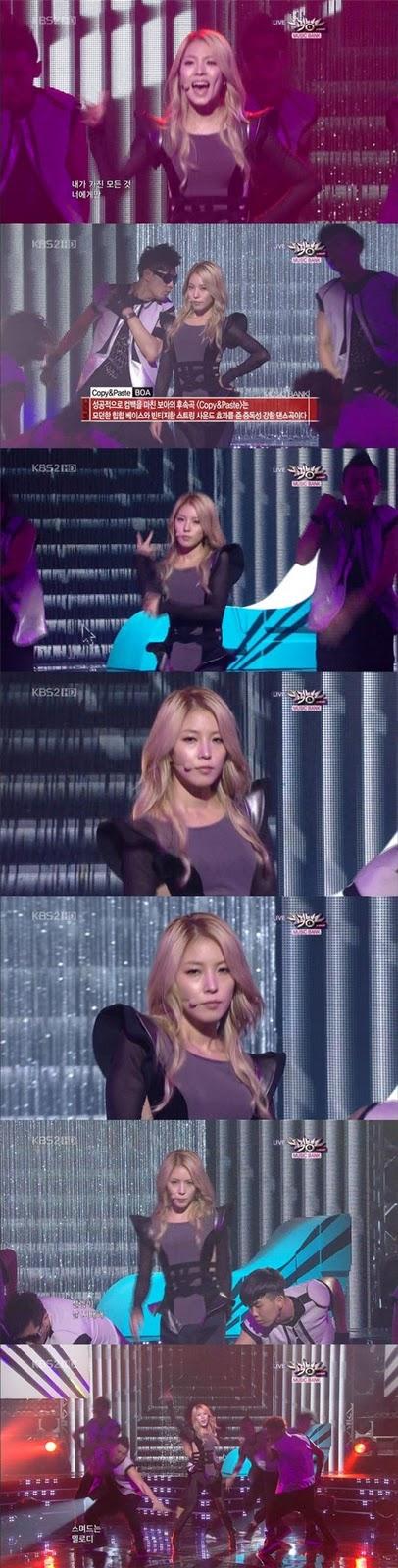 [Pics] BoA en Music Core {COPY & PASTE} Live E43b5bb56c41c08836d3ca97