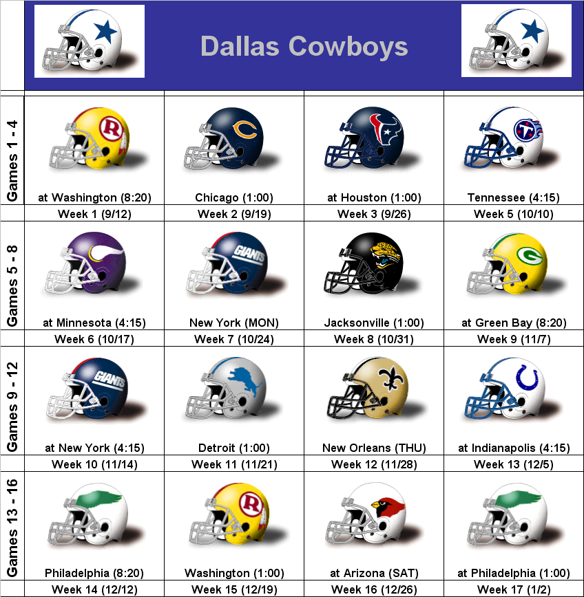 picture about Dallas Cowboys Printable Schedule identified as SimonOnSports: 2010 Dallas Cowboys Printable Helmet Program