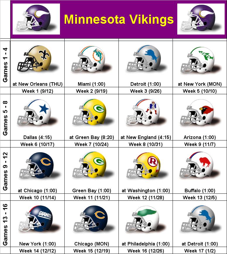 graphic about Minnesota Vikings Printable Schedule identify SimonOnSports: 2010 Minnesota Vikings Printable Helmet Program