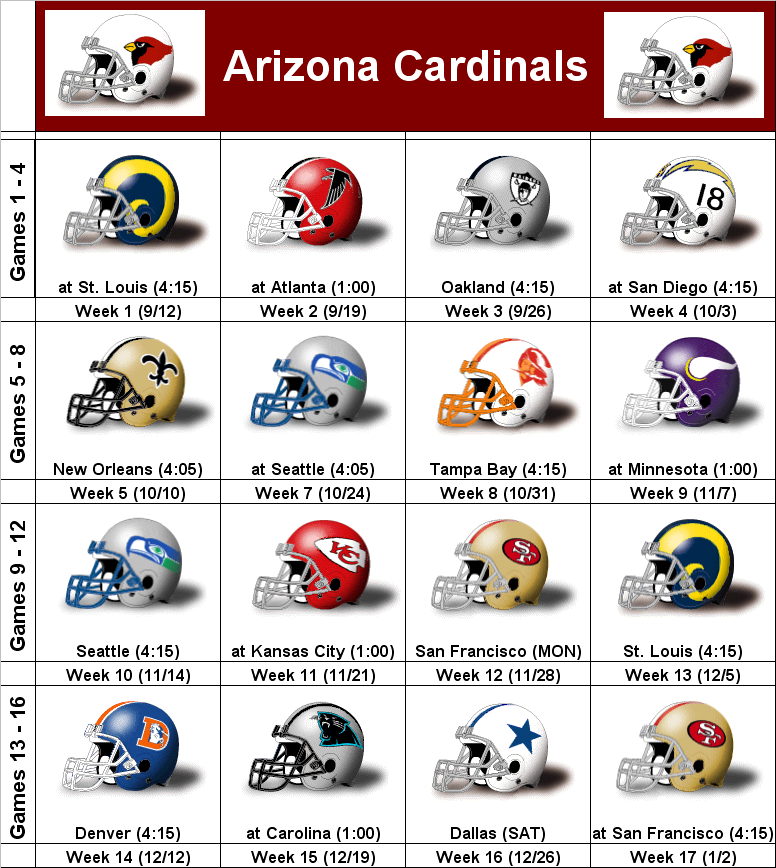 photograph regarding St Louis Cardinals Printable Schedule identify SimonOnSports: 2010 Arizona Cardinals Printable Helmet Program