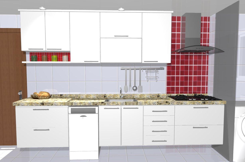 Braga's Home: Armários Cozinha  #A8232A 1228x816