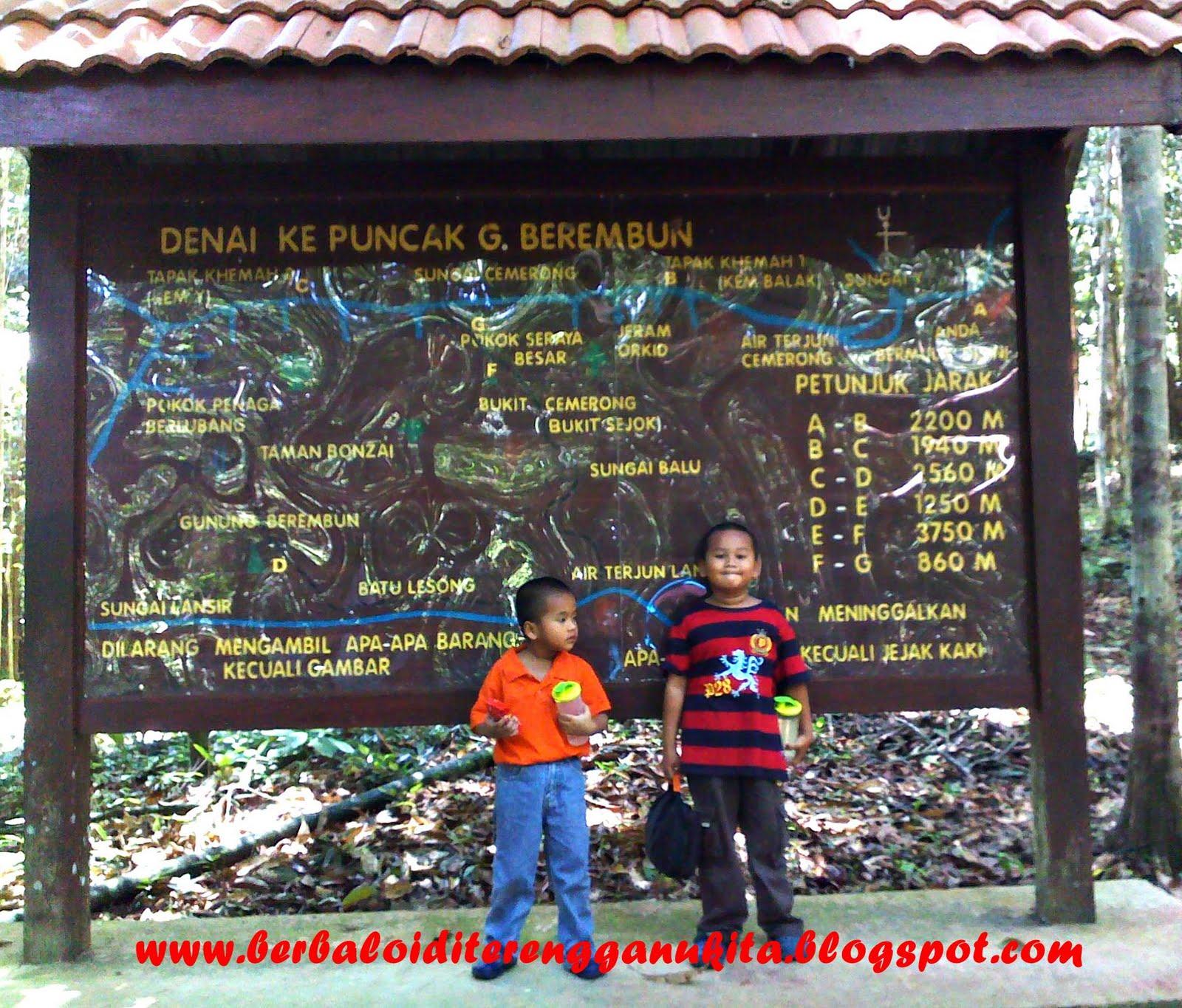 Bergambar di peta kawasan hutan lipur cemerong . .masing-masing