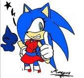 Saria the hedgehog.