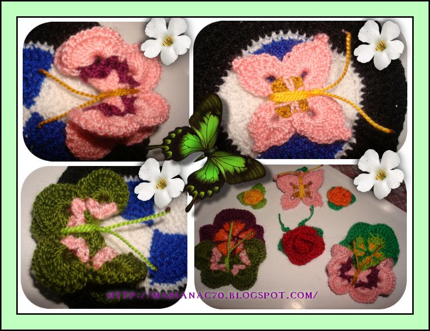 Amores, Vivencias y Manualidades: Mariposas a Crochet