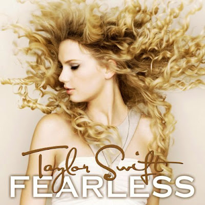 "Here's the album cover of Taylor Swift's upcoming album ""Fearless"""