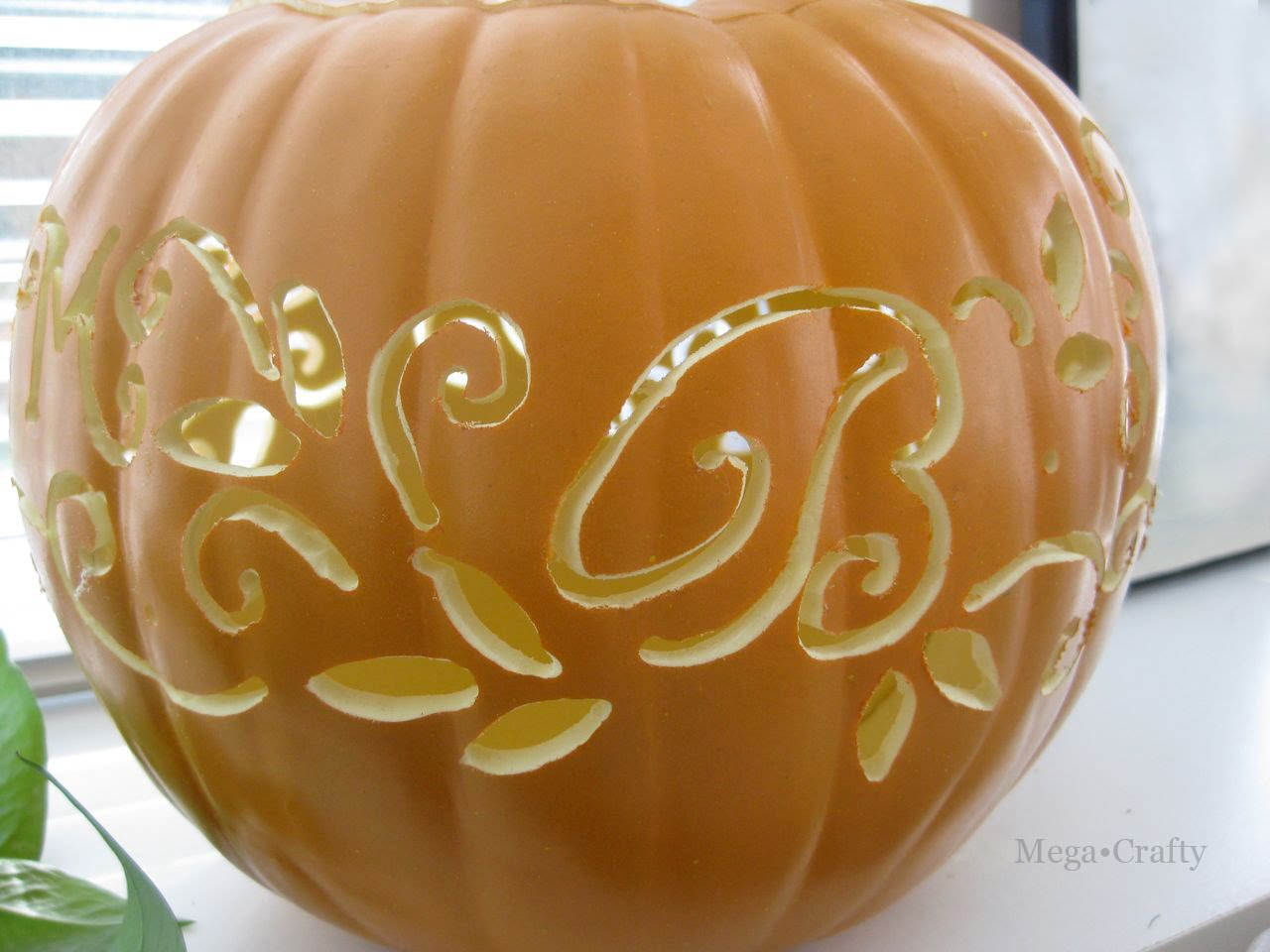 mega crafty carved faux pumpkin