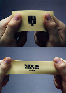 rubber business card