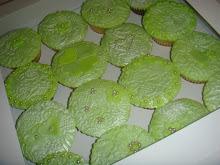 Green pearl cupcakes