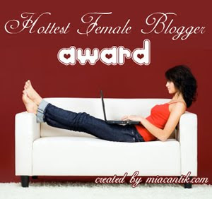 The Hottest Female Blogger Award
