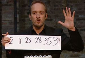 Derren Brown predicts LOTTO numbers