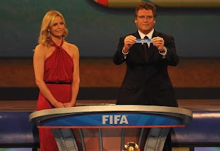 Draw hosts: South African Oscar-winning actress Charlize Theron and FIFA Secretary General Jerome Valcke