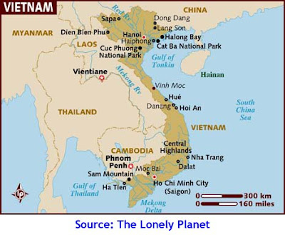 Vietnam, Map, Lonely Planet