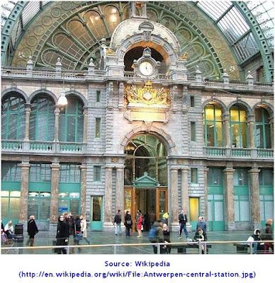 Antwerpen Centraal Railway Station. CENTRAL STATION ANTWERP