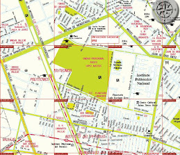 Mapa para llegar a la Dirección General del IPN