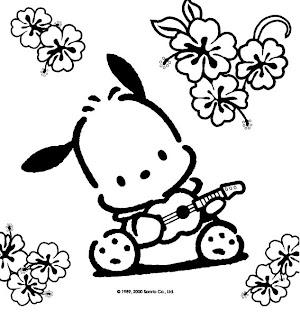 Moldes De        Dibujos B N         Hello Kitty