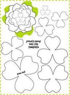 Moldes para hacer Flores **
