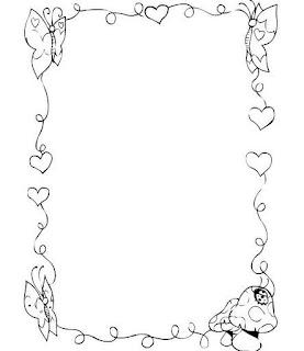 De        Dibujos B N         Escolares         Hojas Con Bordes