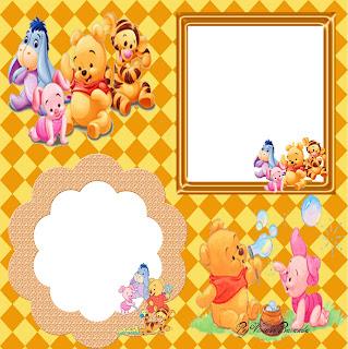 Moldes De        Pooh Y Sus Amigos         Portaretratos