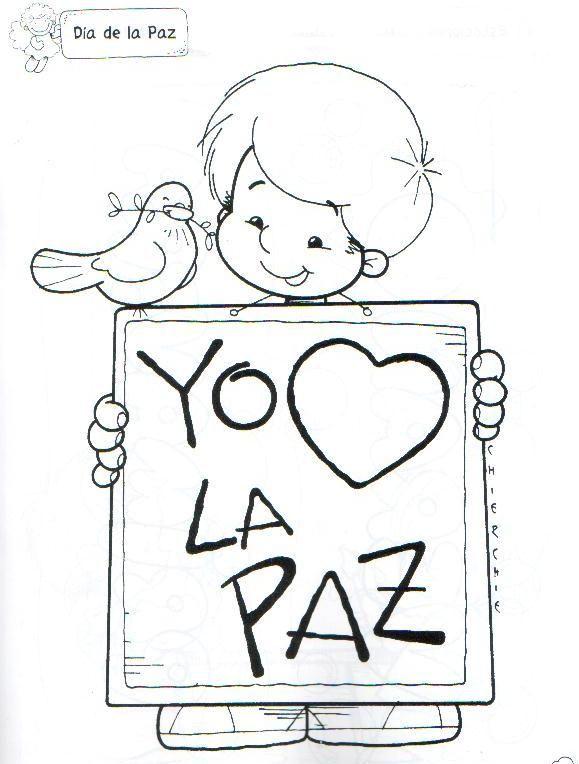 Dibujos Para Colorear De La Paz