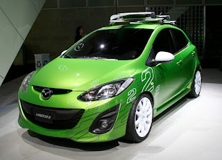 2011 New sporty Mazda2 (base price $13,980) front view