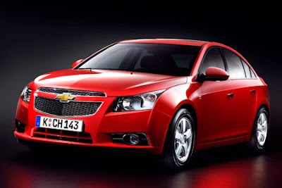 2011 Chevy Cruze auto show front view
