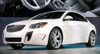 2011 Buick Regal luxury sedans (base price $26,245) front view