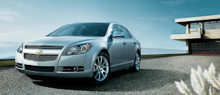 2011 Chevy Malibu family car front view