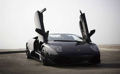 2011 Lamborghini Murcielago  figures open door