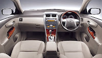 Toyota Corolla Altis Facelift Marketed in Europe interior view
