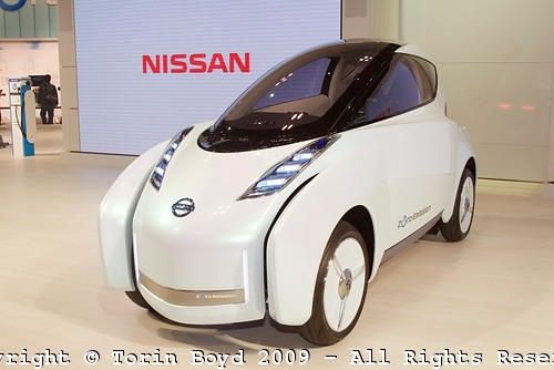 Nissan Motor showed a new hybrid electric vehicles